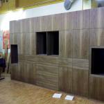 Wohnwand dunkles Holz Individueller Innenausbau bei Möbel Frauendorfer in Amberg