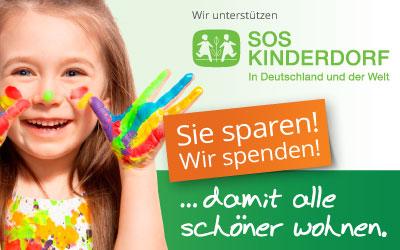 Wir unterstützen SOS-Kinderdorf